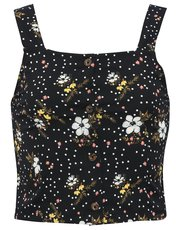 Teens' floral print button top