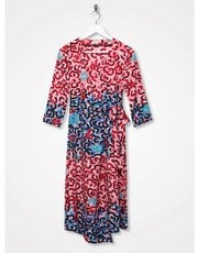 Sonder Studio squiggle print wrap dress