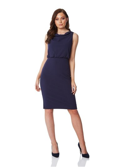 Roman Originals cowl neck fitted dress