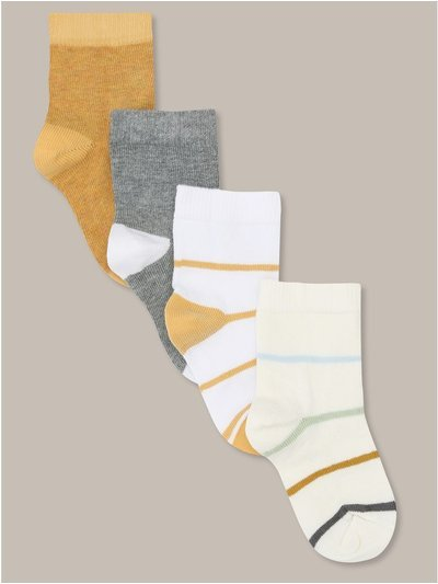 Striped socks four pack