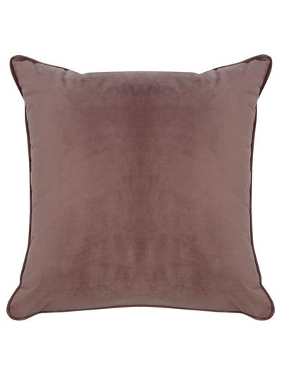 Dusty pink velour cushion