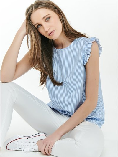 Sleeveless poplin top