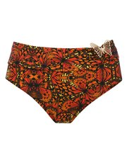 Butterfly print roll over bikini bottoms