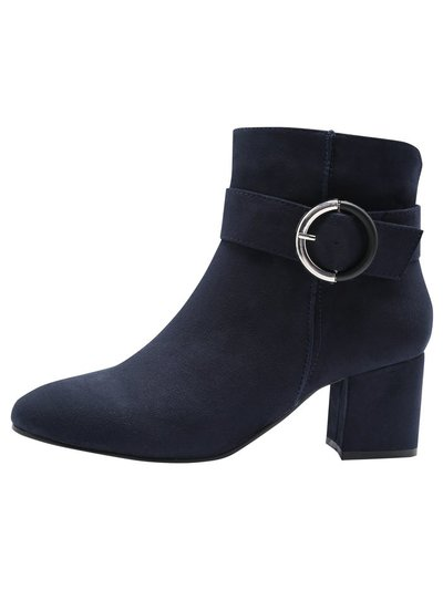 Ariana ankle boot with round buckle detail