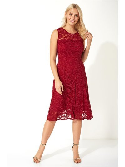 Roman Originals glitter lace fit and flare dress