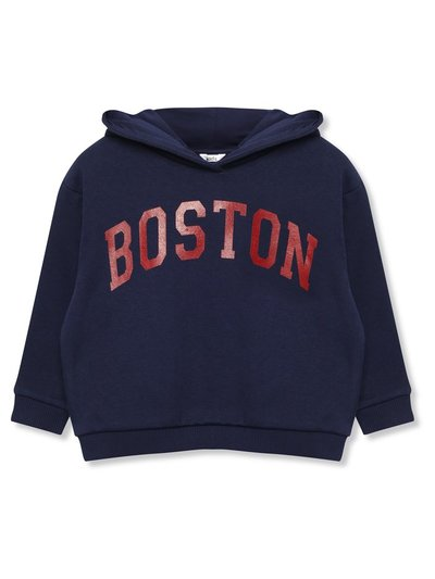 Boston slogan hoodie (9mths-5yrs)