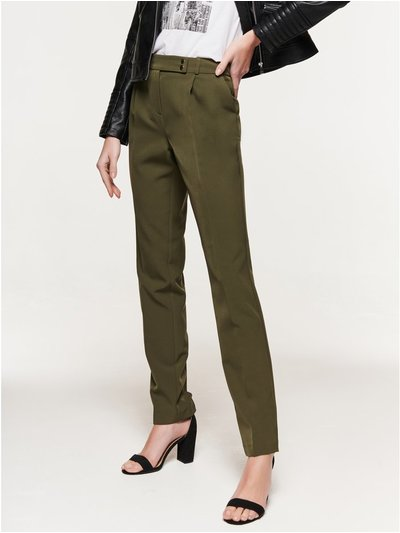 Crepe tapered trousers