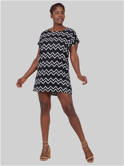 Izabel Curve zig zag shift dress