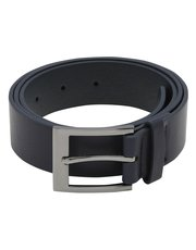 Plain navy belt