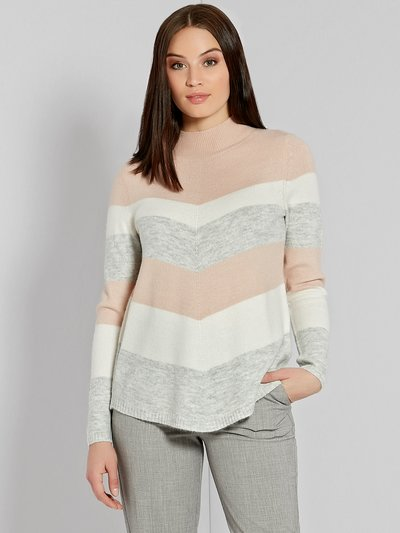 Chevron stripe high neck jumper