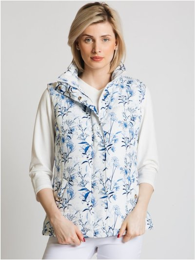 Jessica Graaf botanical quilted gilet