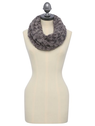Textured faux fur snood