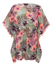 Teens' tropical print kaftan