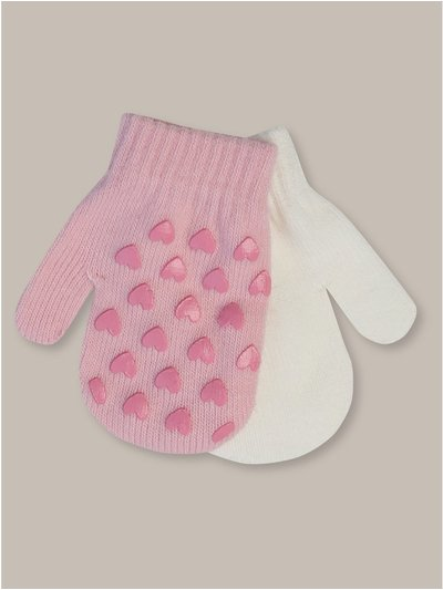 Love heart mittens two pack