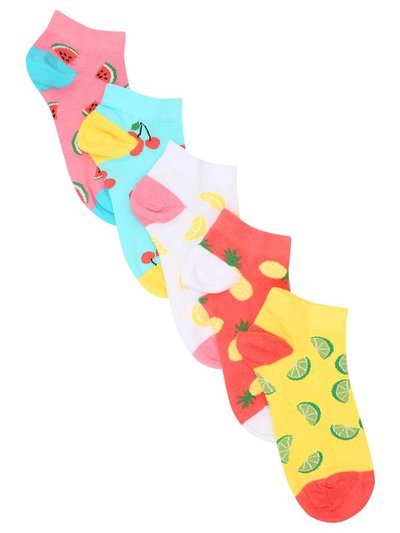 Teen fruit trainer socks five pack