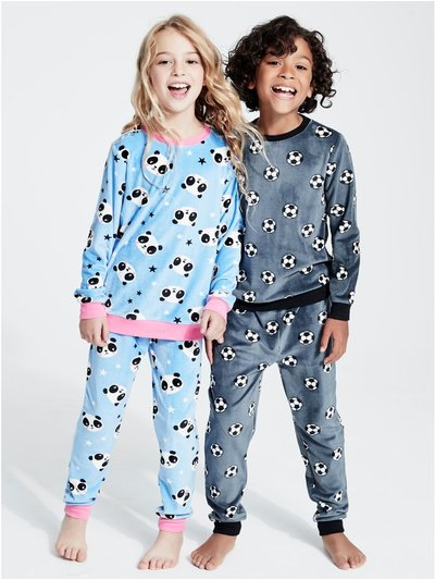 Panda fleece pyjamas (4-13yrs)
