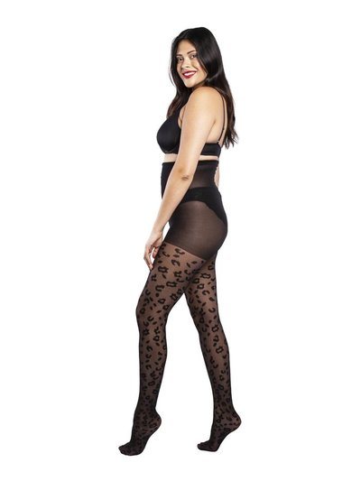 Scarlett and Jo leopard black tights