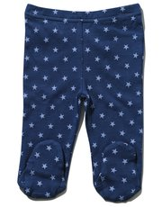 Star print joggers with feet