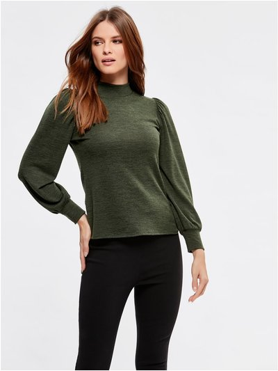 Petite high neck top