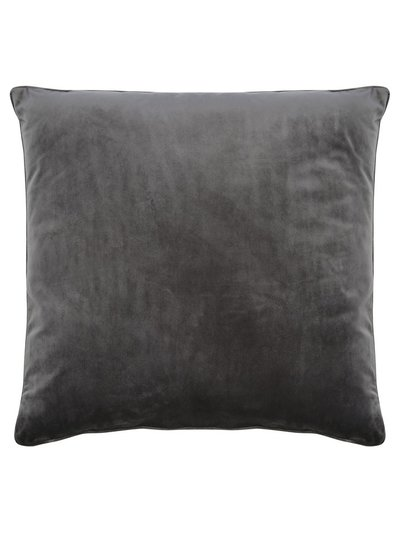 Grey velour cushion