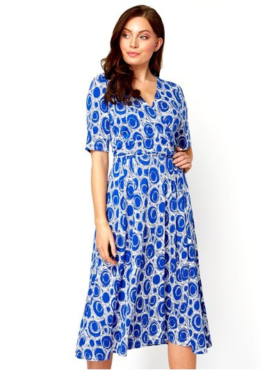 Roman Originals spot printed fit and flare dress