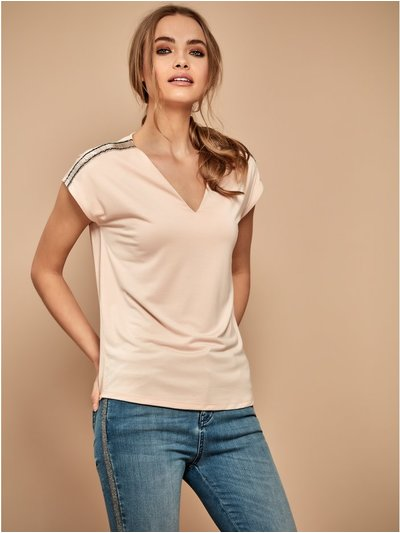 Sonder Studio bead embellished top
