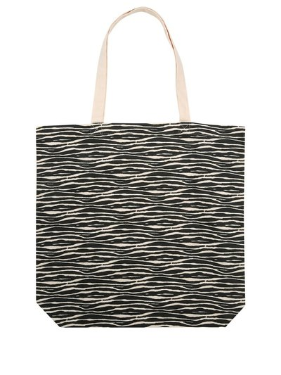 Zebra print canvas bag