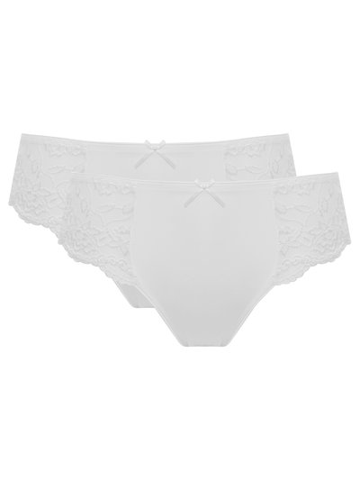Lace side midi briefs two pack
