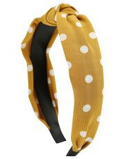 Muse ochre spot fabric covered headband