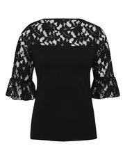 Lace flute sleeve top