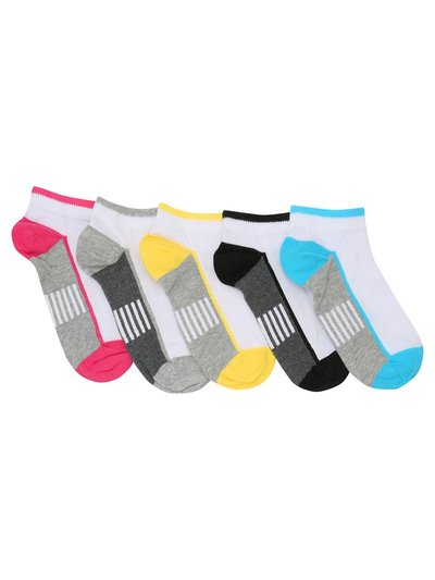 Teen stripe trainer socks five pack