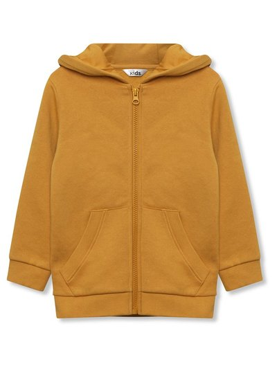 Yellow zip front hoodie (9mths-5yrs)