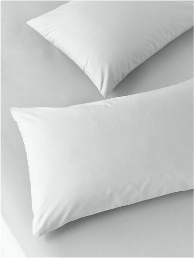 Cotton rich silver pillowcases two pack