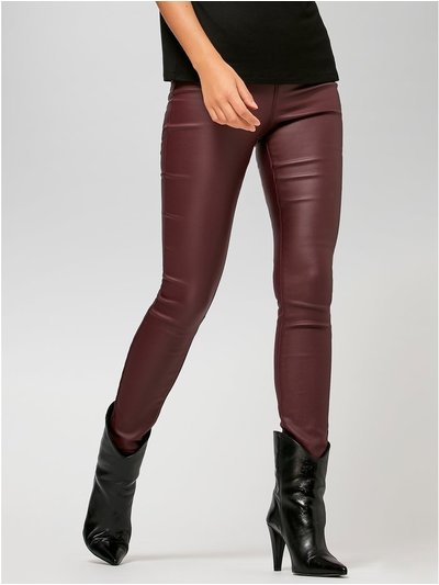 Sonder Studio berry coated skinny jeans