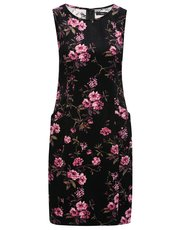 Floral cord shift dress