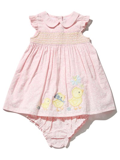 Duck smock dress and knickers (Newborn-18mths)