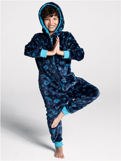 Space fleece onesie (4-12yrs)