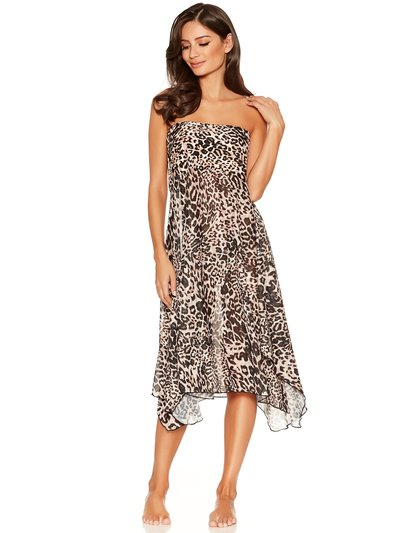 Leopard print two in one beach dress