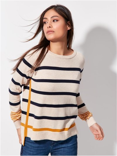 Khost clothing striped fine knit jumper