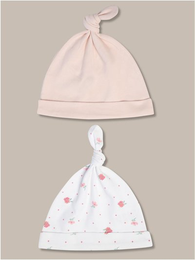 Floral hats two pack (newborn-24mths)