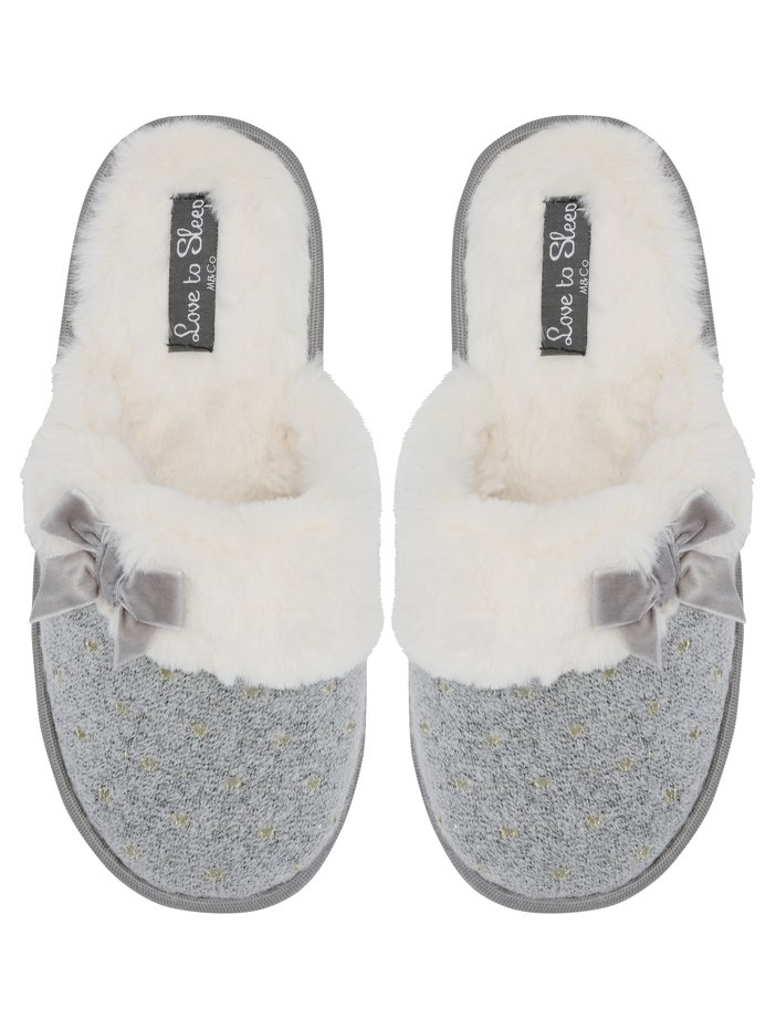 70ebab4aa47d Images. new. Faux fur lined mule slippers