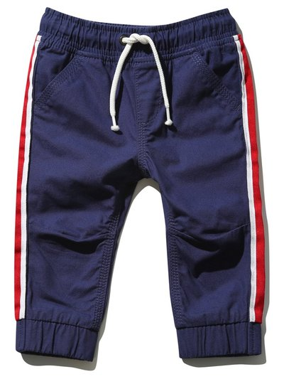Side stripe cuffed jogger trousers (9 mths - 5 yrs)