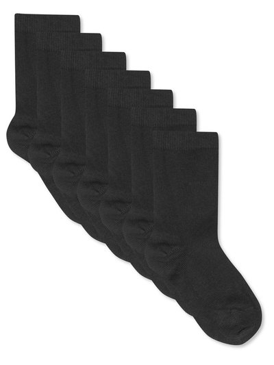 Black socks seven pack