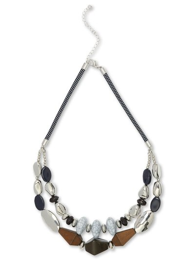 Muse mixed bead short necklace