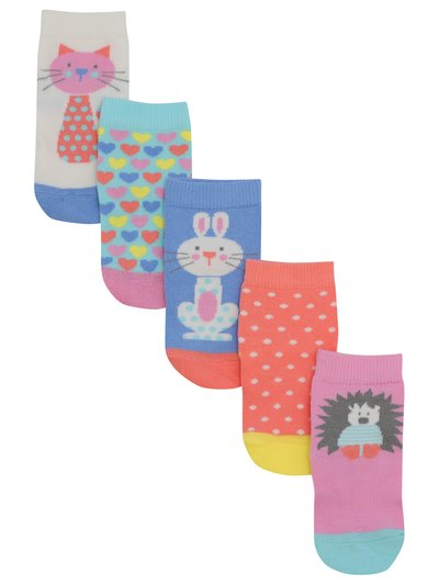 Animal socks with grips five pack