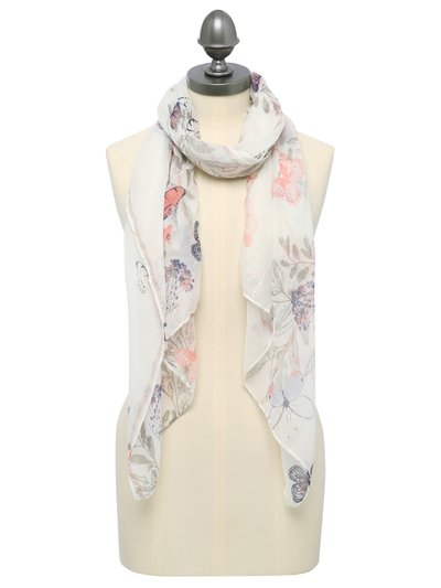Butterfly print sequin detail scarf