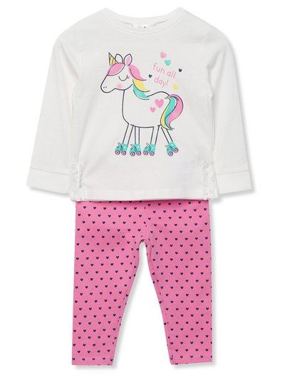 Unicorn top and leggings set (9mths-5yrs)