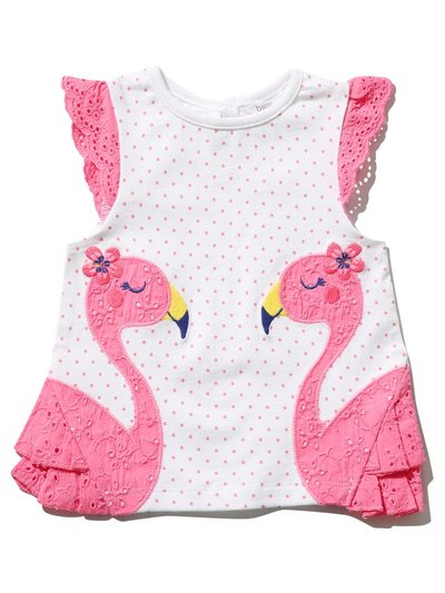 Flamingo broderie anglaise top