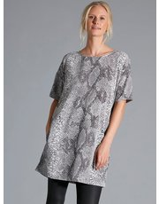 Sonder Studio snake print tunic dress