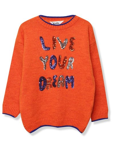 Slogan sequin jumper (3-12yrs)